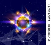 atom   a symbolic image of an... | Shutterstock .eps vector #1100566754