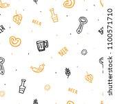 grunge beer minimalistic... | Shutterstock .eps vector #1100571710