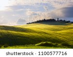 italy countryside landscape... | Shutterstock . vector #1100577716