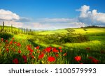 italy countryside landscape... | Shutterstock . vector #1100579993