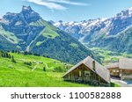 Houses In The Swiss Village Of...
