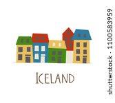 icon of  icelandic buildings.... | Shutterstock .eps vector #1100583959