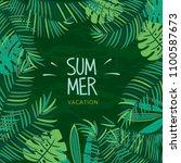 summer tropical plant...   Shutterstock .eps vector #1100587673