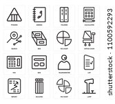 set of 16 icons such as lamp ...