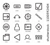 set of 16 icons such as screen  ...