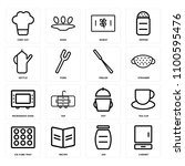 set of 16 icons such as cabinet ... | Shutterstock .eps vector #1100595476