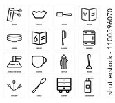 set of 16 icons such as liquid...
