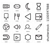 set of 16 icons such as... | Shutterstock .eps vector #1100597888