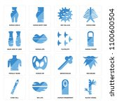 set of 16 icons such as blood... | Shutterstock .eps vector #1100600504