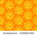 seamless background with sun. | Shutterstock . vector #1100601404