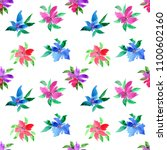 floral background. watercolor... | Shutterstock . vector #1100602160
