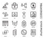 set of 16 icons such as website ... | Shutterstock . vector #1100604986