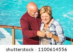 happy senior retired couple...   Shutterstock . vector #1100614556