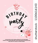 birthday greeting card and... | Shutterstock .eps vector #1100616143