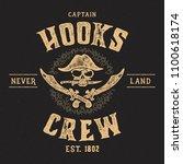 "vintage composition ""hooks crew""... | Shutterstock .eps vector #1100618174"