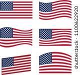 6 american flag designs  ... | Shutterstock .eps vector #1100622920
