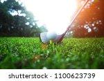 golf club and golf ball close... | Shutterstock . vector #1100623739