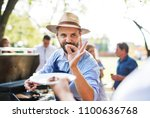 family celebration or a...   Shutterstock . vector #1100636768