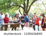 family celebration or a... | Shutterstock . vector #1100636840