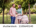 beautiful young happy couple...   Shutterstock . vector #1100640140