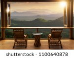 beautiful landscape at cafe... | Shutterstock . vector #1100640878