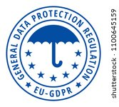 eu gdpr label illustration | Shutterstock .eps vector #1100645159