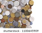 old european coins as very nice ... | Shutterstock . vector #1100645909