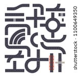 collection of isolated...   Shutterstock .eps vector #1100649350