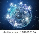 close up of the earth in the... | Shutterstock . vector #1100656166