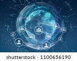 linking entities. networking ... | Shutterstock . vector #1100656190