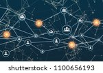 linking entities. networking ... | Shutterstock . vector #1100656193