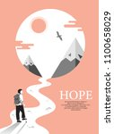 disabled people  hope  broken... | Shutterstock .eps vector #1100658029