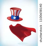 american hat. independence day... | Shutterstock .eps vector #1100658140