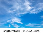 blue sky and white clouds in... | Shutterstock . vector #1100658326