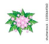 spring flower background vector ... | Shutterstock .eps vector #1100664560