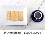 cookies of el fitr islamic... | Shutterstock . vector #1100666996