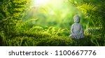 buddha statu in natural... | Shutterstock . vector #1100667776