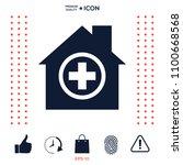 hospital icon symbol | Shutterstock .eps vector #1100668568