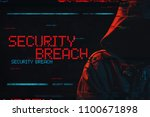 security breach concept with... | Shutterstock . vector #1100671898
