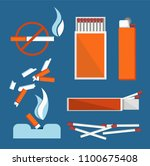 stop smoking banner isolated on ... | Shutterstock .eps vector #1100675408