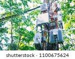 telephone transmitter...   Shutterstock . vector #1100675624
