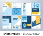 brochure cover design and flyer ... | Shutterstock .eps vector #1100676860