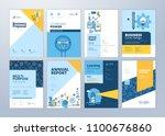 brochure cover design and flyer ... | Shutterstock .eps vector #1100676860