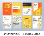brochure cover design and flyer ... | Shutterstock .eps vector #1100676866