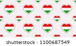 hungary flag seamless pattern.... | Shutterstock .eps vector #1100687549