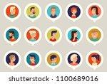 vector material cartoon... | Shutterstock .eps vector #1100689016