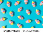colorful ice cream pattern on... | Shutterstock . vector #1100696003