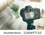 professional camera shooting... | Shutterstock . vector #1100697110