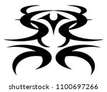 devil tattoo design | Shutterstock .eps vector #1100697266
