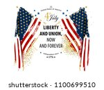 independence day card with... | Shutterstock .eps vector #1100699510